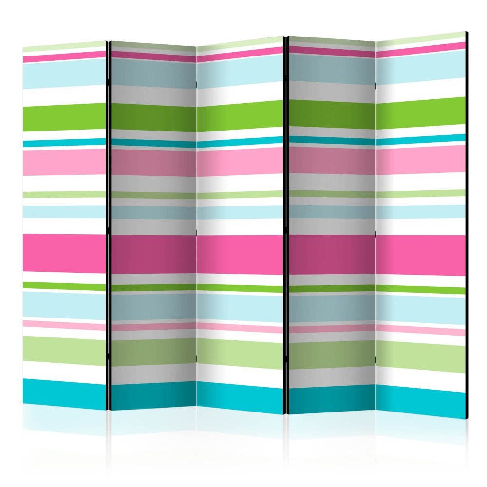 Paraván Bright stripes Dekorhome 225x172 cm (5-dílný)