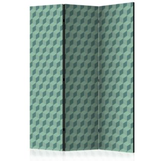 Paraván Monochromatic cubes Dekorhome 135x172 cm (3-dílný)