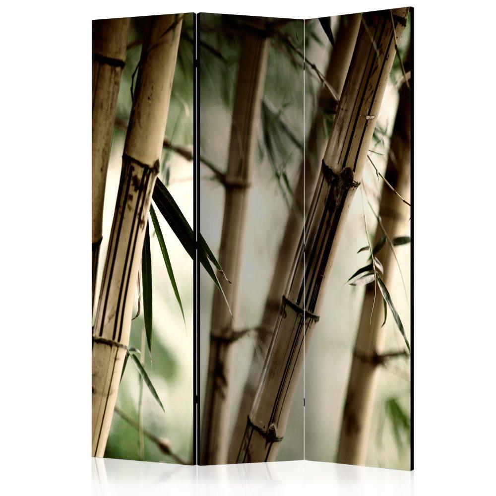 Paraván Fog and bamboo forest Dekorhome 135x172 cm (3-dílný)