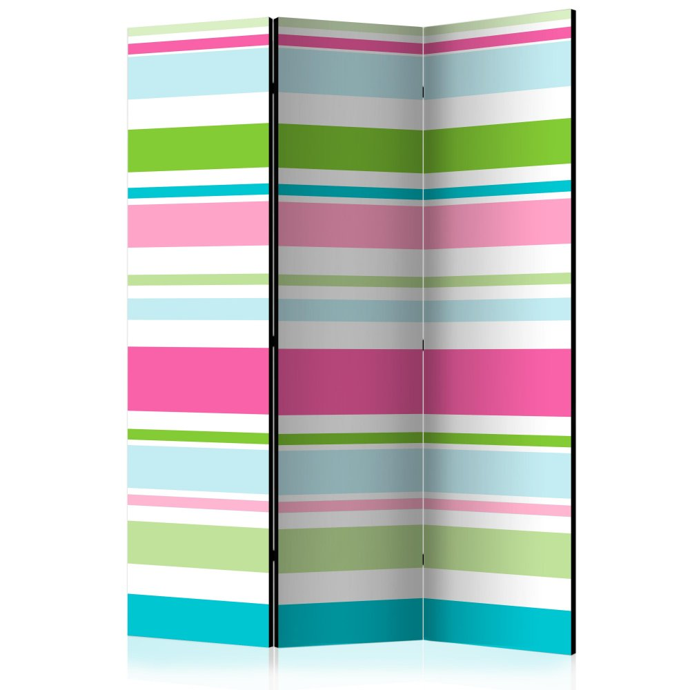 Paraván Bright stripes Dekorhome 135x172 cm (3-dílný)