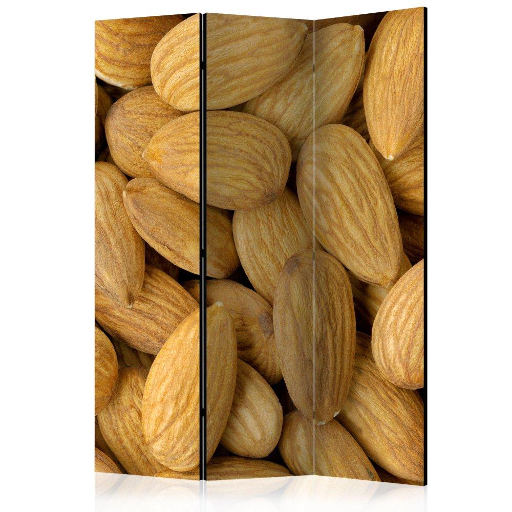 Paraván Tasty almonds Dekorhome 135x172 cm (3-dílný)