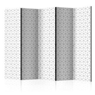 Paraván Cubes texture Dekorhome 225x172 cm (5-dílný)