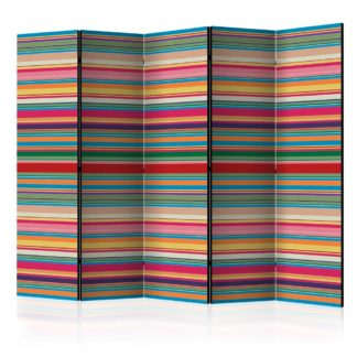 Paraván Subdued stripes Dekorhome 225x172 cm (5-dílný)