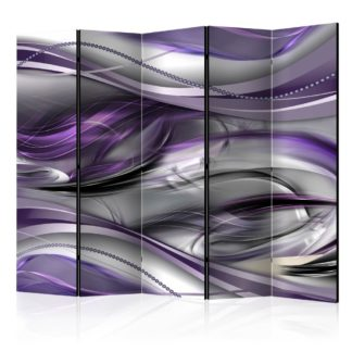 Paraván Tunnels (Violet) Dekorhome 225x172 cm (5-dílný)