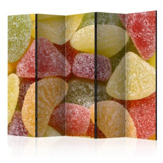 Paraván Tasty fruit jellies Dekorhome 225x172 cm (5-dílný)