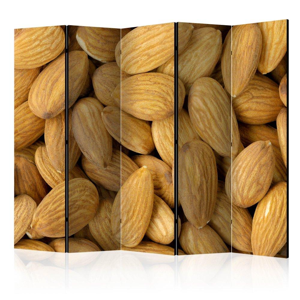 Paraván Tasty almonds Dekorhome 225x172 cm (5-dílný)