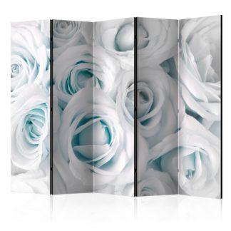 Paraván Satin Rose (Turquoise) Dekorhome 225x172 cm (5-dílný)