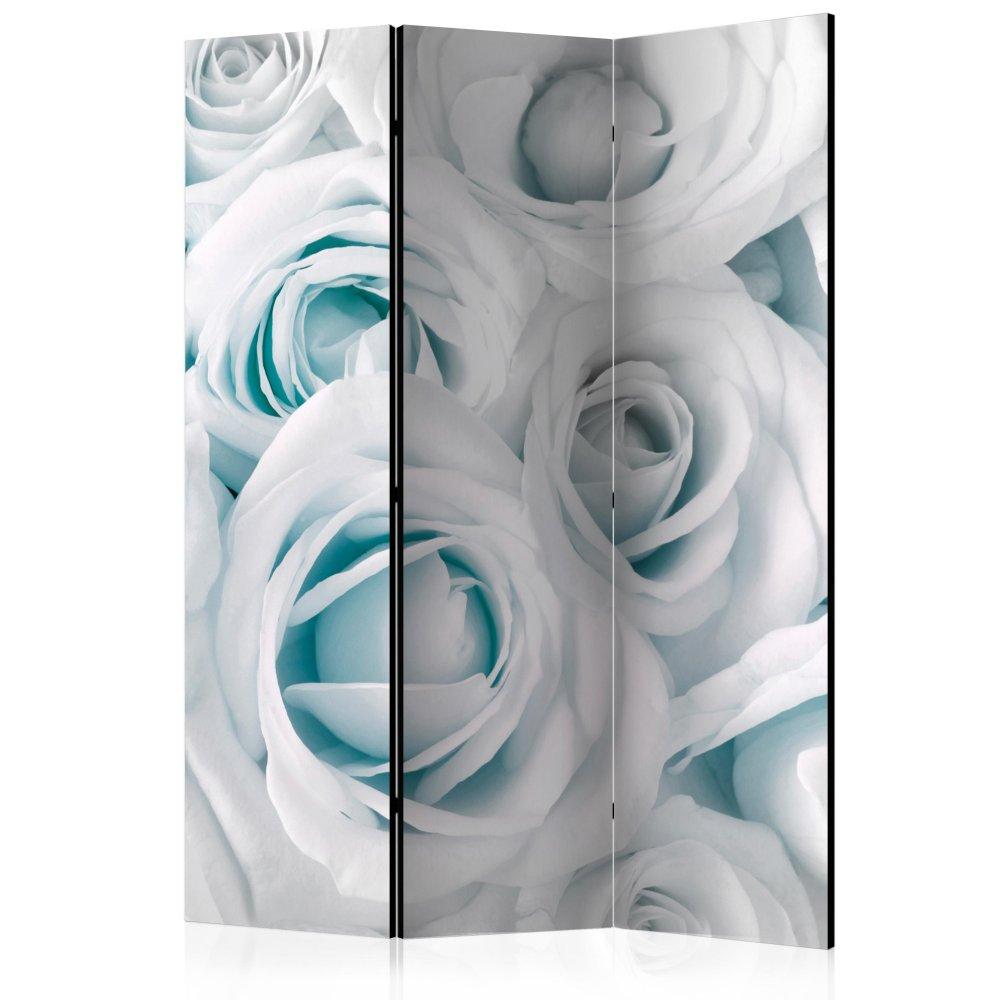 Paraván Satin Rose (Turquoise) Dekorhome 135x172 cm (3-dílný)
