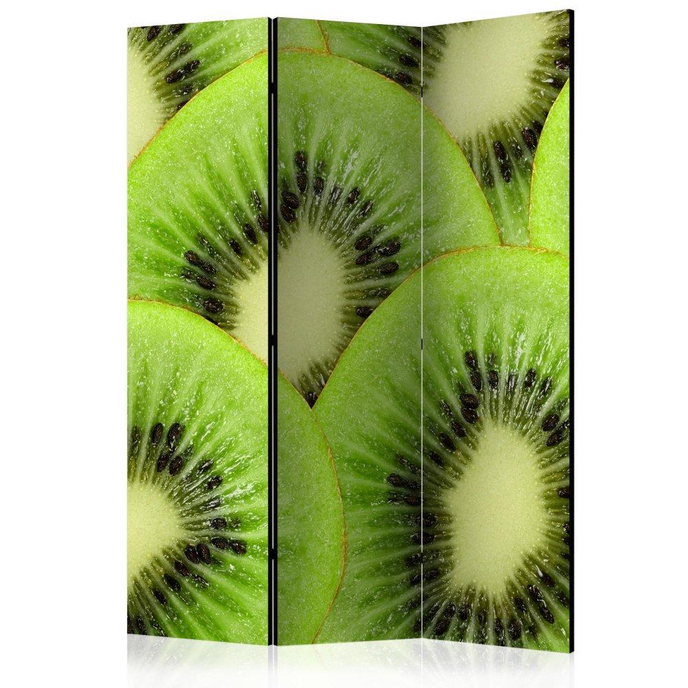 Paraván Kiwi slices Dekorhome 135x172 cm (3-dílný)