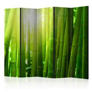 Paraván Sun and bamboo Dekorhome 225x172 cm (5-dílný)
