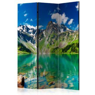 Paraván Mountain lake Dekorhome 135x172 cm (3-dílný)