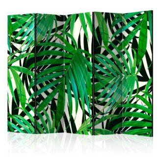 Paraván Tropical Leaves Dekorhome 225x172 cm (5-dílný)
