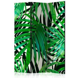 Paraván Tropical Leaves Dekorhome 135x172 cm (3-dílný)