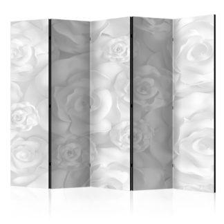 Paraván Plaster Flowers Dekorhome 225x172 cm (5-dílný)