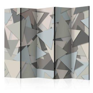 Paraván Geometric Puzzle Dekorhome 225x172 cm (5-dílný)