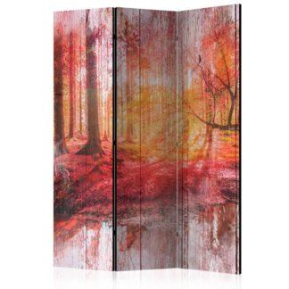 Paraván Autumnal Forest Dekorhome 135x172 cm (3-dílný)