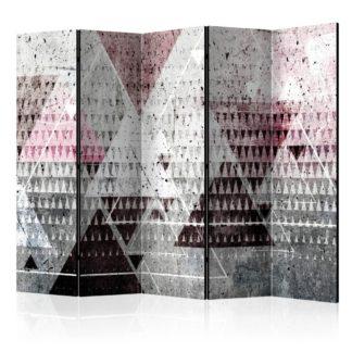 Paraván Triangles Dekorhome 225x172 cm (5-dílný)