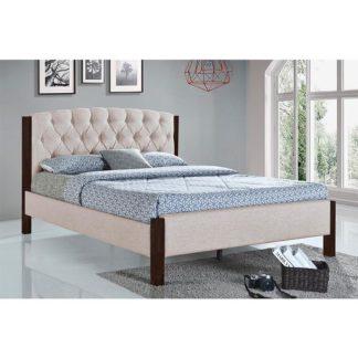 Manželská postel ELENA písková / tmavý ořech Tempo Kondela 160 x 200 cm
