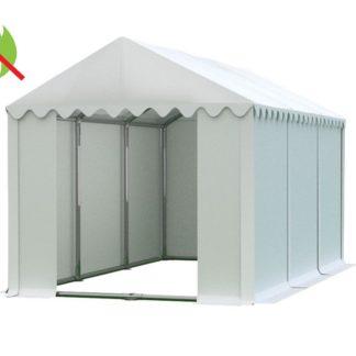 Skladový stan 4x6m PROFI - nehořlavý Bílá