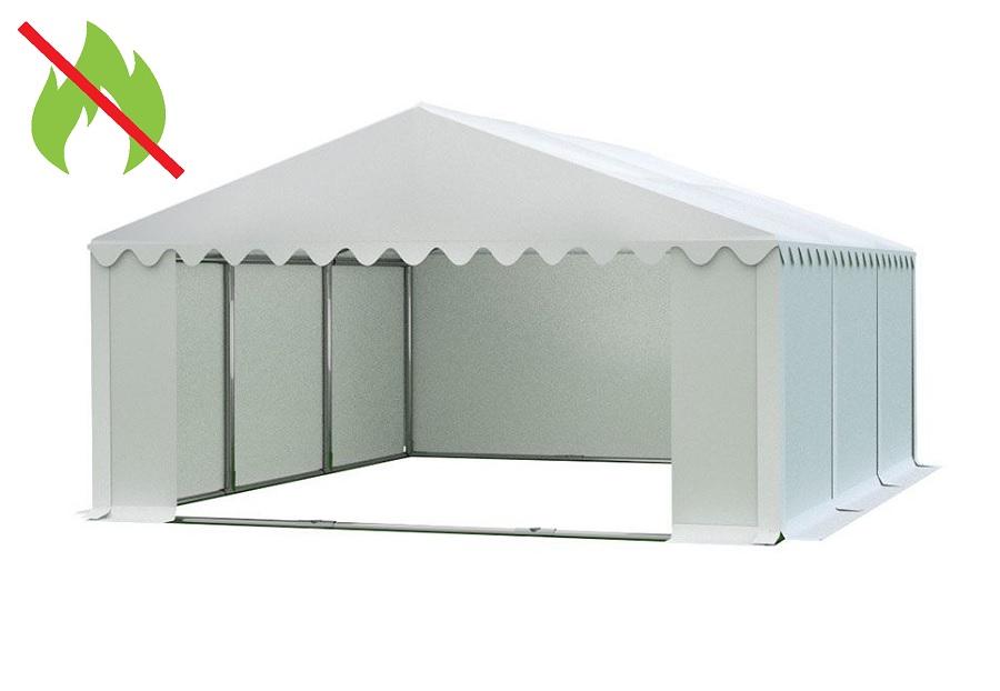Skladový stan 6x6m bílá PREMIUM - nehořlavý