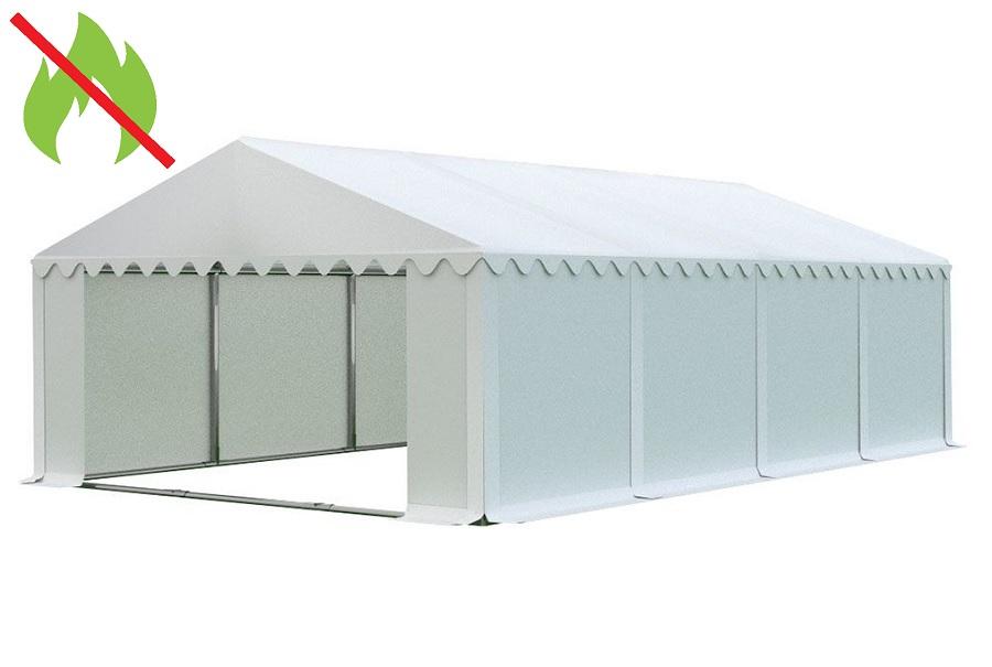 Skladový stan 6x8m bílá PREMIUM - nehořlavý