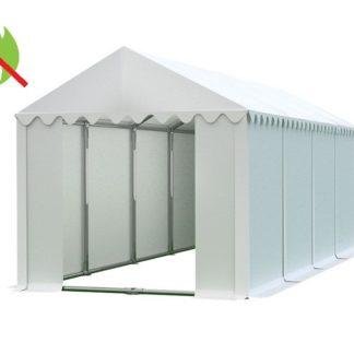 Skladový stan 4x8m PROFI - nehořlavý Bílá