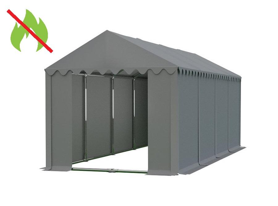 Skladový stan 4x8m PROFI - nehořlavý Šedá