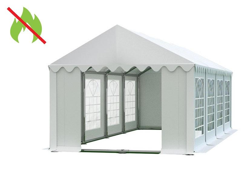 Zahradní párty stan 4x8m bílá PREMIUM - nehořlavý