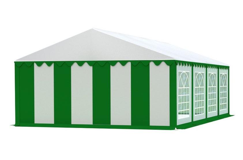 Zahradní párty stan 5x8m EKONOMY Bílá / zelená