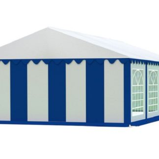 Zahradní párty stan 5x8m EKONOMY Bílá / modrá