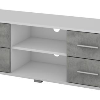 TV stolek Oskar TV, bílý/beton, 120 cm