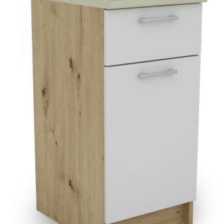 Dolní kuchyňská skříňka Irma SSD40.82, dub artisan/bílá