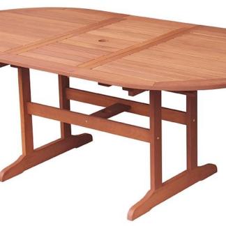 Rozkládací zahradní stůl Oval 150x90 cm