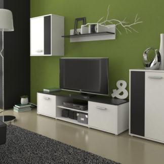 Obývací stěna Zuzana 2, černá/bílá