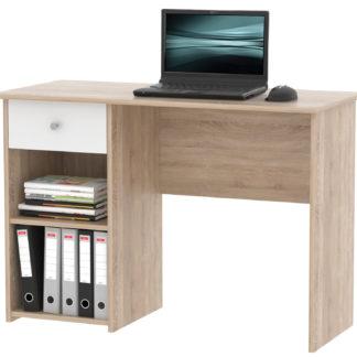 Praktický psací stůl se zásuvkou KURT, dub sonoma/bílá