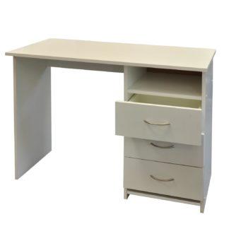 Psací stůl se šuplíky 44-I, bílá