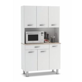 PASTA, kuchyňská skříňka, bílá/akát