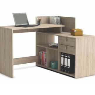 VISTA, univerzální rohový psací stůl, dub sonoma