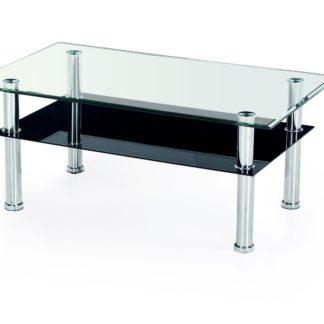 Konferenční stolek YOLANDA, kov/sklo