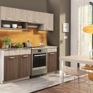 Kuchyně MORENO 120/180 cm, dub sonoma/akácie