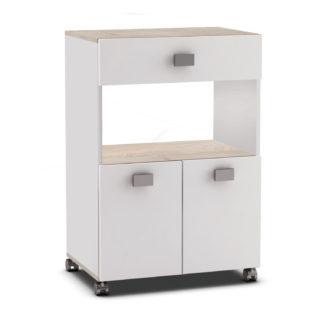 ROMARIN, kuchyňská skříňka, bílá/akát