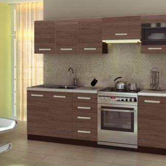 Kuchyně AMANDA 1, 200/260 cm, ořech viva