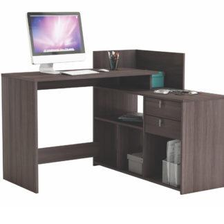 VISTA, univerzální rohový psací stůl, dub vulcano
