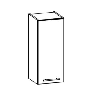 TIFFANY, horní skříňka G30, bílý lesk