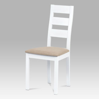 Jídelní židle BC-2603 WT, masiv buk/bílá barva