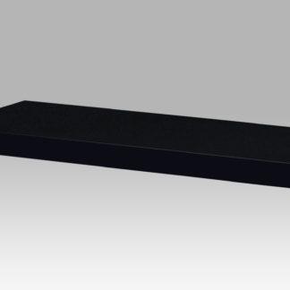 Nástěnná polička P-005 BK, 80cm, barva černá - vysoký lesk