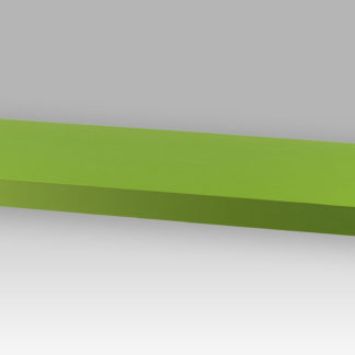 Nástěnná polička P-001 GRN, 60 cm, barva zelená