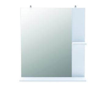 CORALIE 2, zrcadlo  s poličkou, bílá
