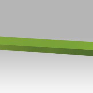 Nástěnná polička P-005 GRN, barva zelená