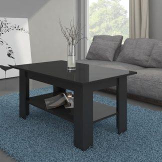Konferenční stolek ELAIZA, černá/černý lesk